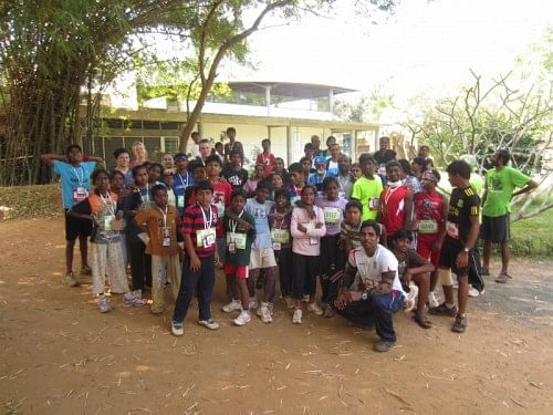 The students of Ananya participated at the Auroville marathon