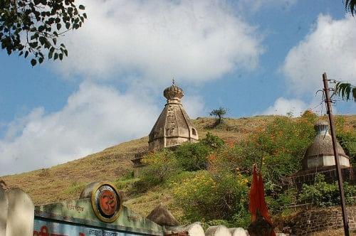 Sagareshwar Temple near the sanctuary gate.