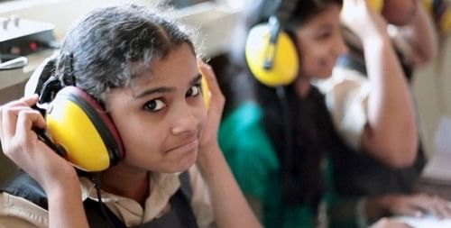 At Koshish School for the Deaf, the children are taught verbal communication through various methods