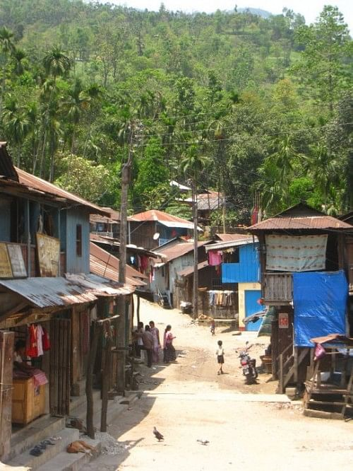 The main centre of the Totopara village in West Bengal