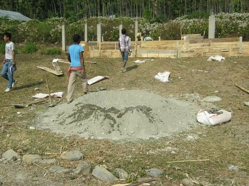 The foundation for the school was laid exactly a year ago