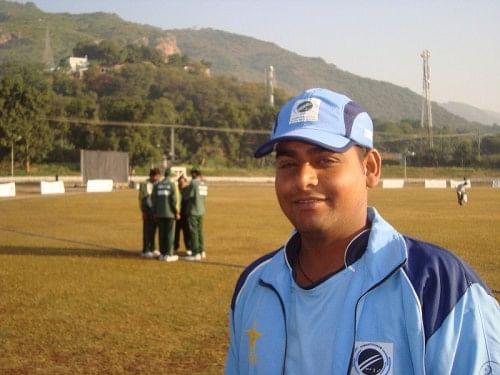 Mahender Vaishnav at the T20 Blind World Cup 2012