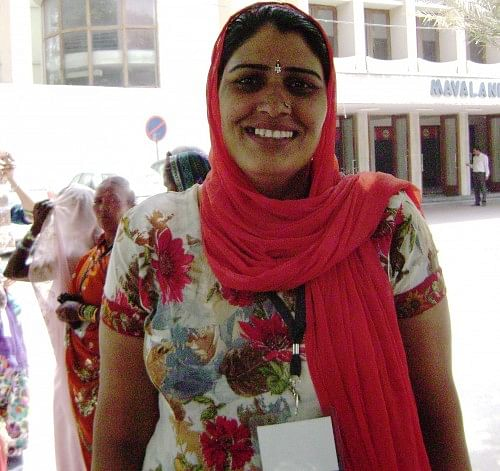 Shushma Bhadu, 35, is one of those progressive women from rural Haryana who has chosen her own future by entering public life. Elected in 2010 as the sarpanch of the Dhani Miyan Gram Panchayat in Fatehabad district, she has proven to be a true revolutionary. (Credit: Bula Devi\WFS)