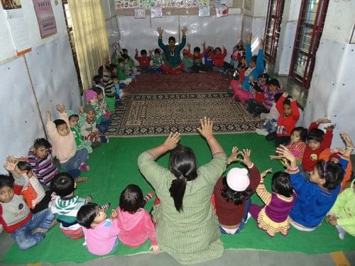 Day care facility for mentally challenged kids was established in 2002.