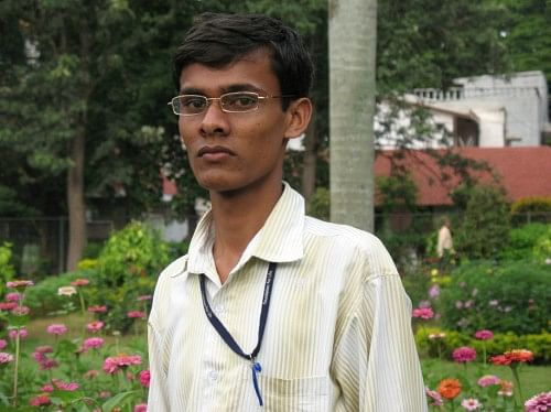 Meghraj Mantri who went from grazing buffaloes to becoming a team leader at a BPO in just a couple of years