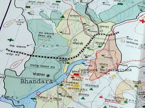 Map of Bhandara