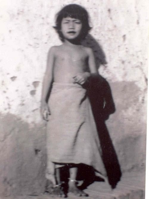 Irom Sharmila - childhood photograph