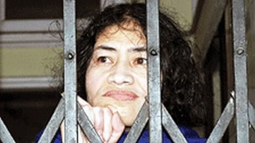 Sharmila has faced frequent arrests for 'attempted suicide' and continues to fight that legal battle