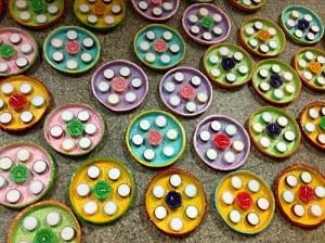 Just like these colourful diyas, the lives of the mentally challenged young wards at SCD is filled with colour and excitement