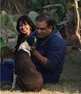 Nadir Khan and his wife Pia Sethi, who feed almost 1,800 dogs daily!