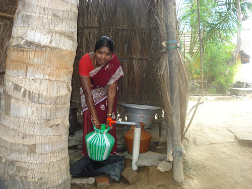 With the micro loans, people are able to access clean water and sanitation in their own homes and save time for more income generating activities