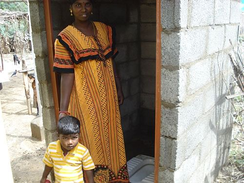Access to clean water and toilet facilities is greatly lowering the risk of several diseases in these homes