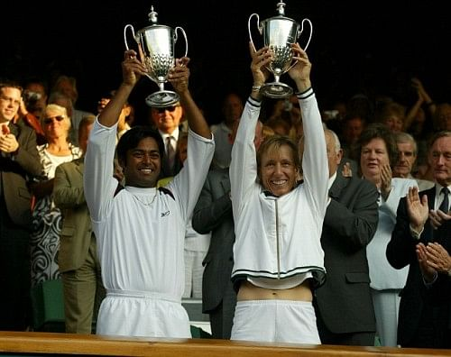 Leander winning Wimbledon with Martina - while suffering from a serious ailment