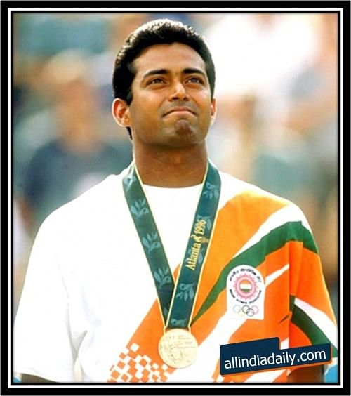 Leander with the Olympic Medal