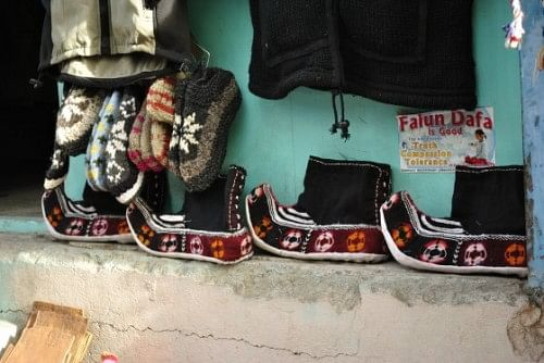 Traditional Ladakhi footwear, although i didn't see any of the locals wear it and walk around.