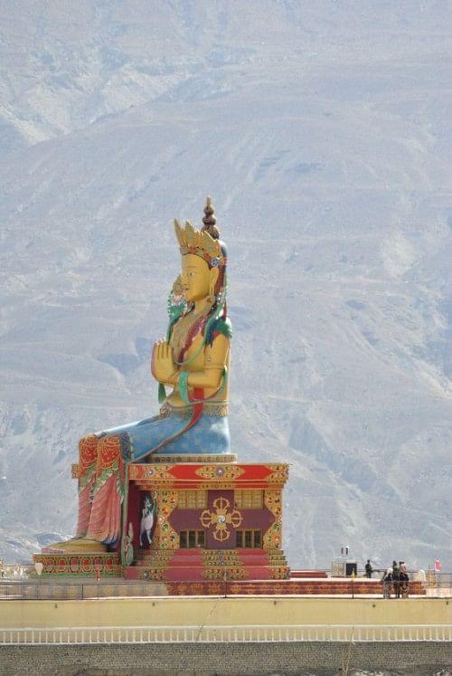 Maitreya – Buddha's avatar – overlooking the village of Diskit.