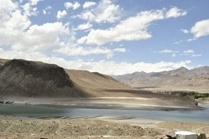 At Sangam – the confluence of Zanskar and Indus Rivers.