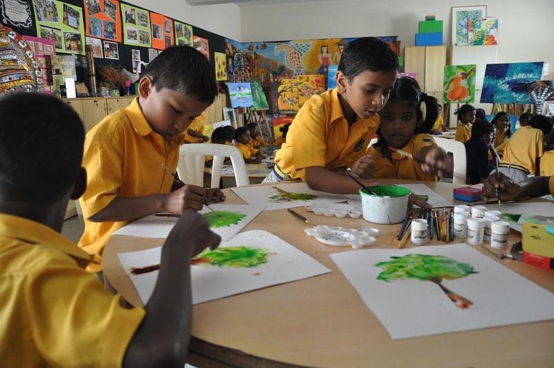 Children in the Art class