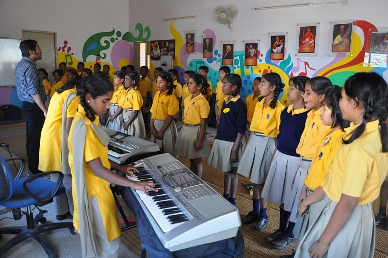 Children in the music room