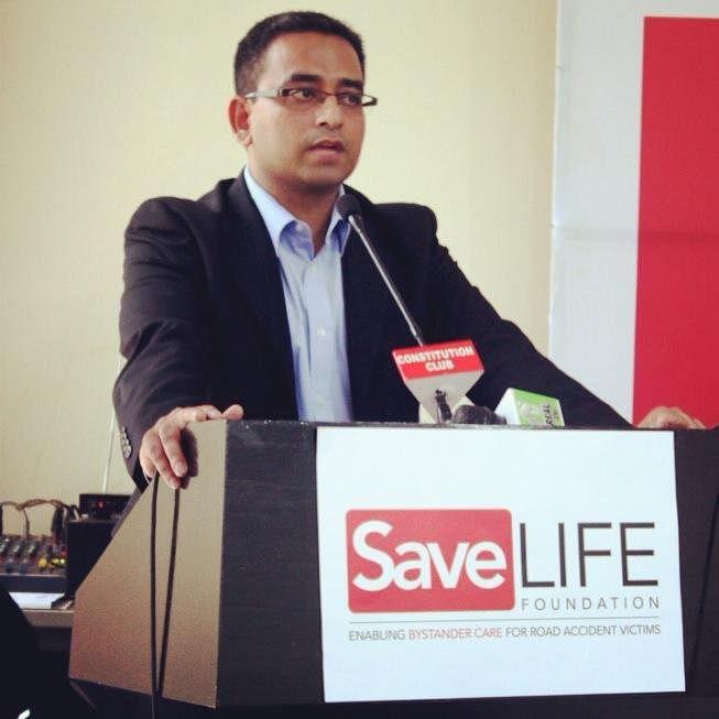 Piyush Tewari, founder of Save Life