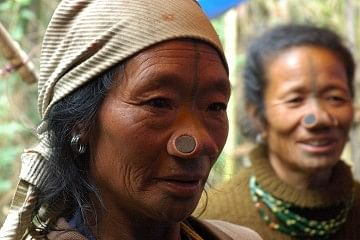 The unique nose plugs of the Apatani women