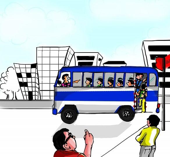 Bus Step-lock system