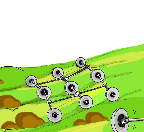 Hilly terrain cart