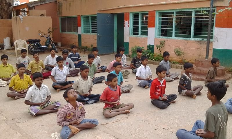 The kids rescued by SATHI at an orientation camp
