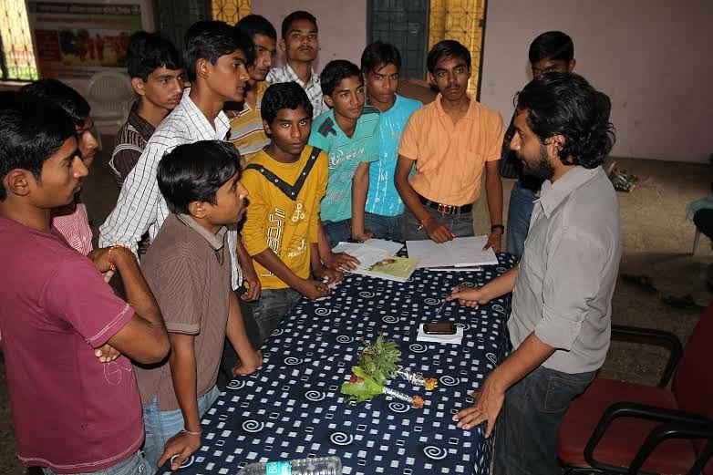 Shuvajit Payne with students