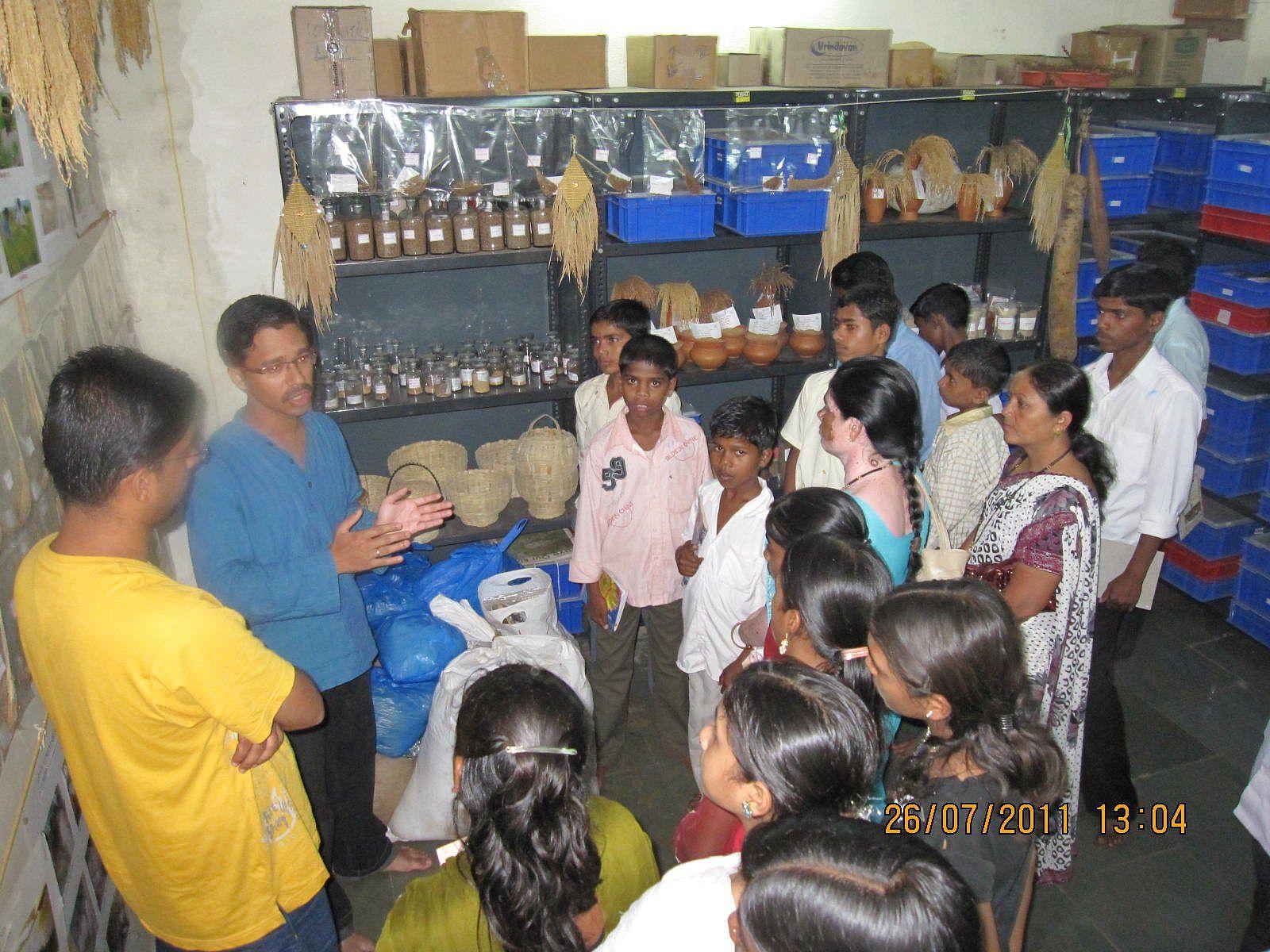 Saurabh Poddar with a group of students at Jawhar.