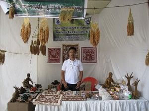 Sourabh at the Traditional Arts Exhibition