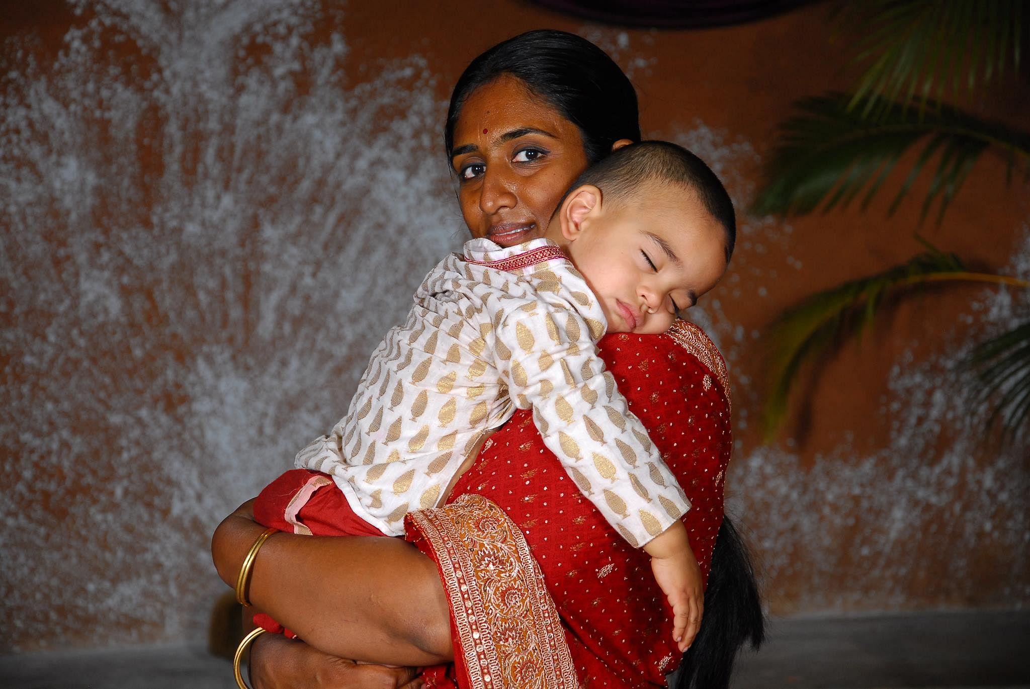 Nayantara with her son