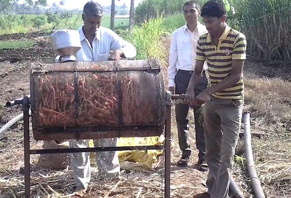 carrot cleaning machine, santosh kaveri