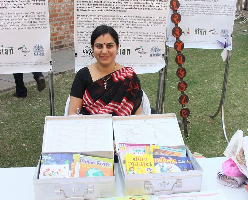 Priti Gandhi, principal of a government school has introduced mobile library kits to inculcate the reading habit in students