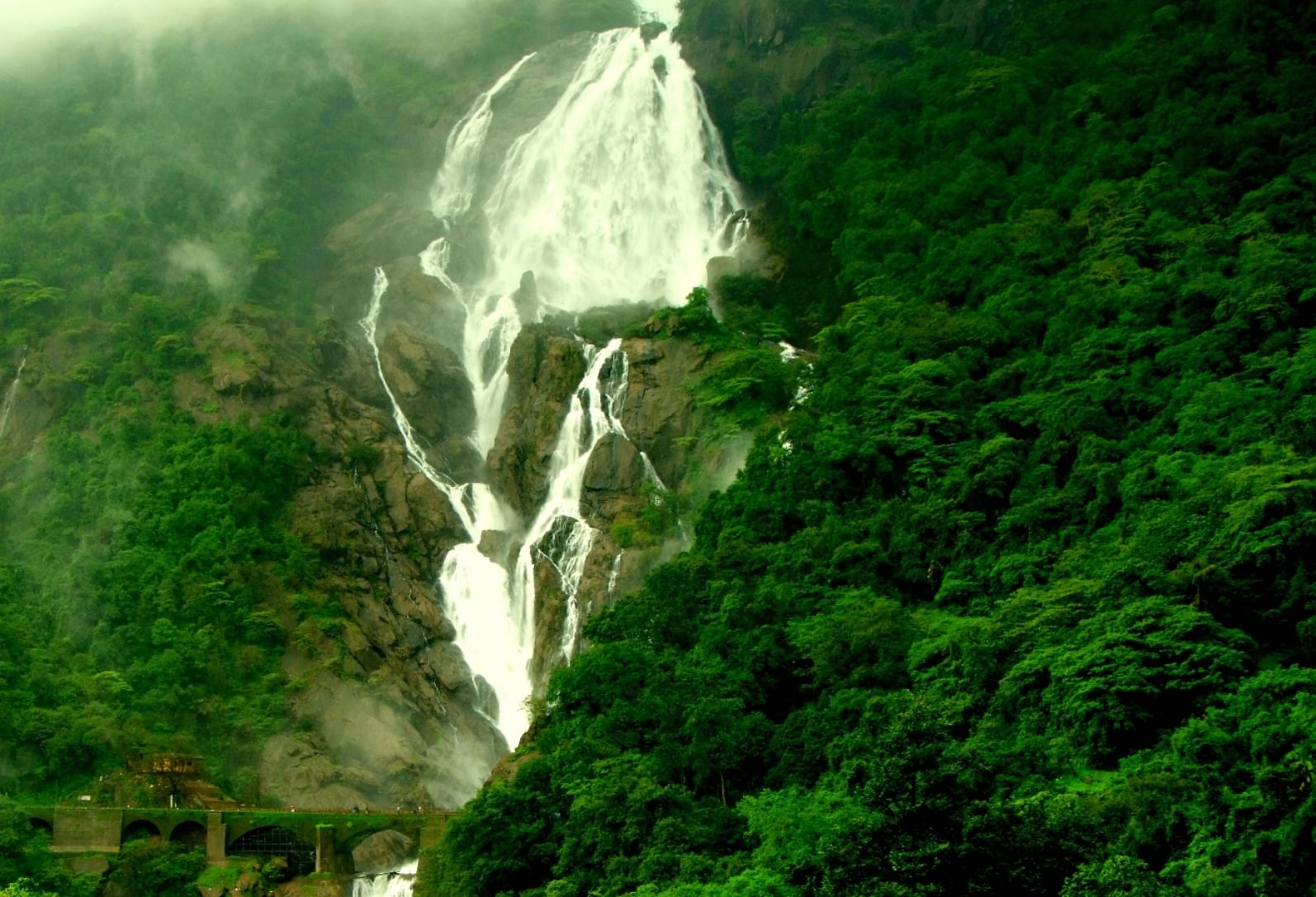 The Dudhsagar Falls