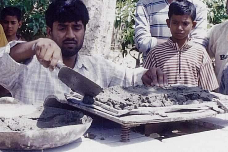 When He Could Not Afford To Repair His Roof, He Invented A Foot Operated Tile Making Machine!