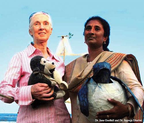 Dr. Suparaja Dharini (Right)