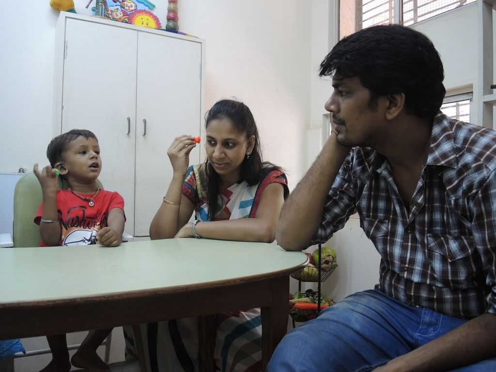 Parents are also trained to practice regular therapy sessions with the kids.