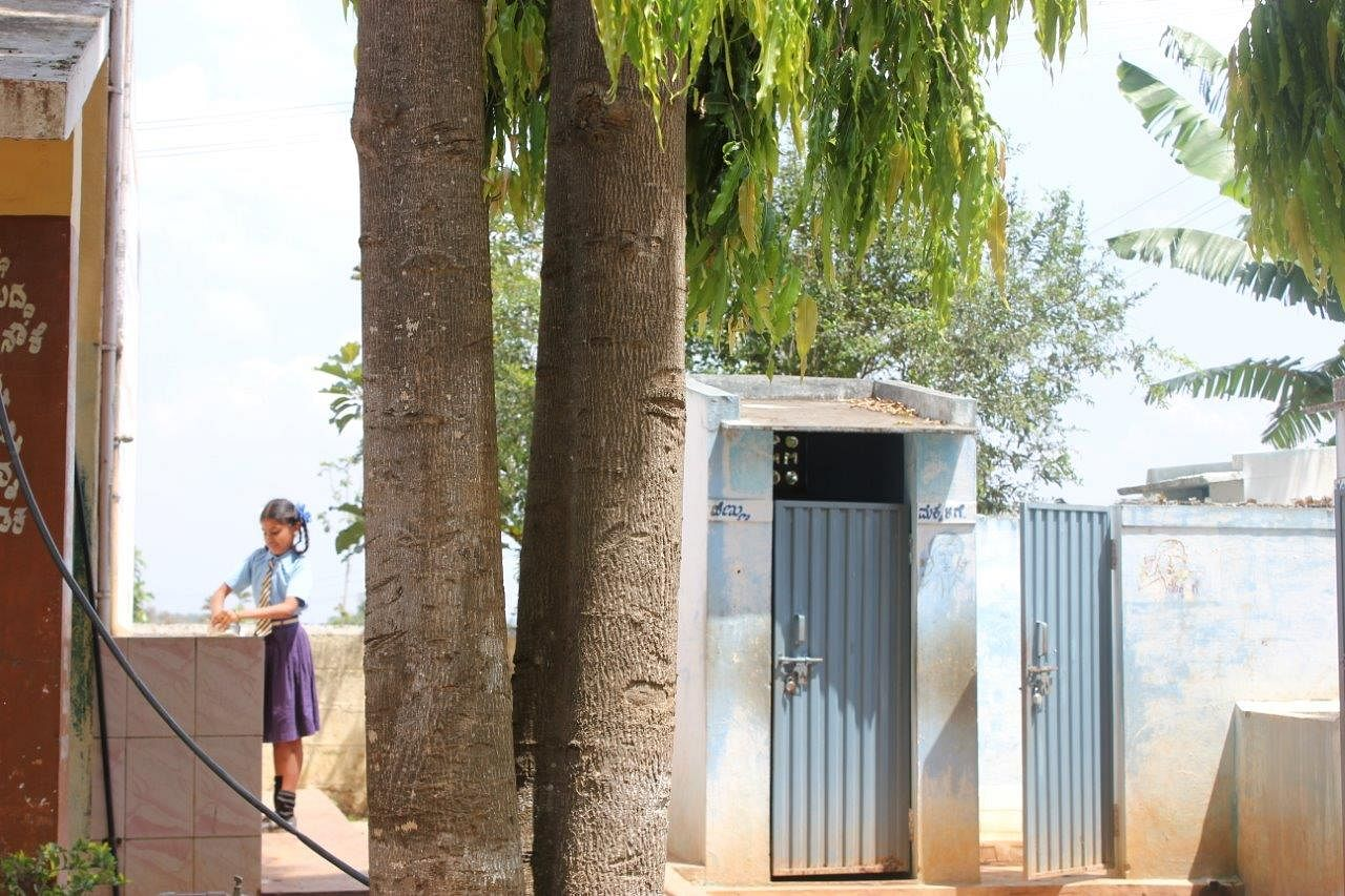 Separate bathrooms for boys and girls along with fully functional hand-washing facilities.