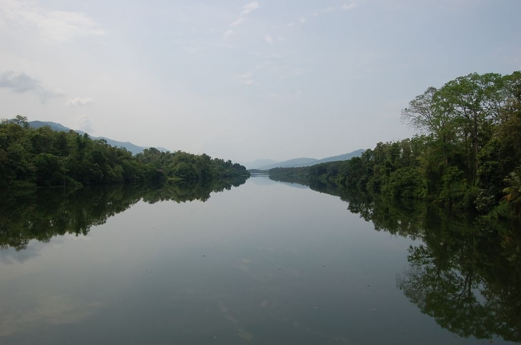The tranquil Periyar at the edge of Thattekkad.