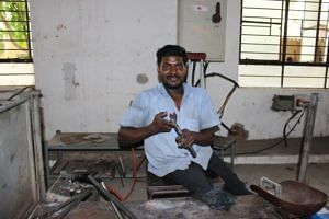 Persons with disabilities are taught to be self-sufficient at WORTH