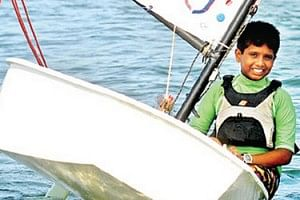 12-year-old Chitresh Tatha is the youngest sailor at the Asian Games 2014.