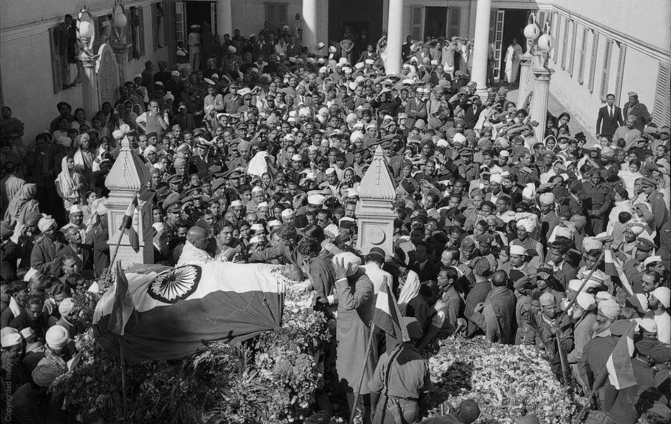 Gandhi's funeral.