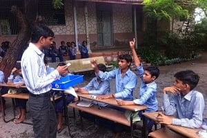 Lathiya spent money from his own pocket to make learning experience better for the students.