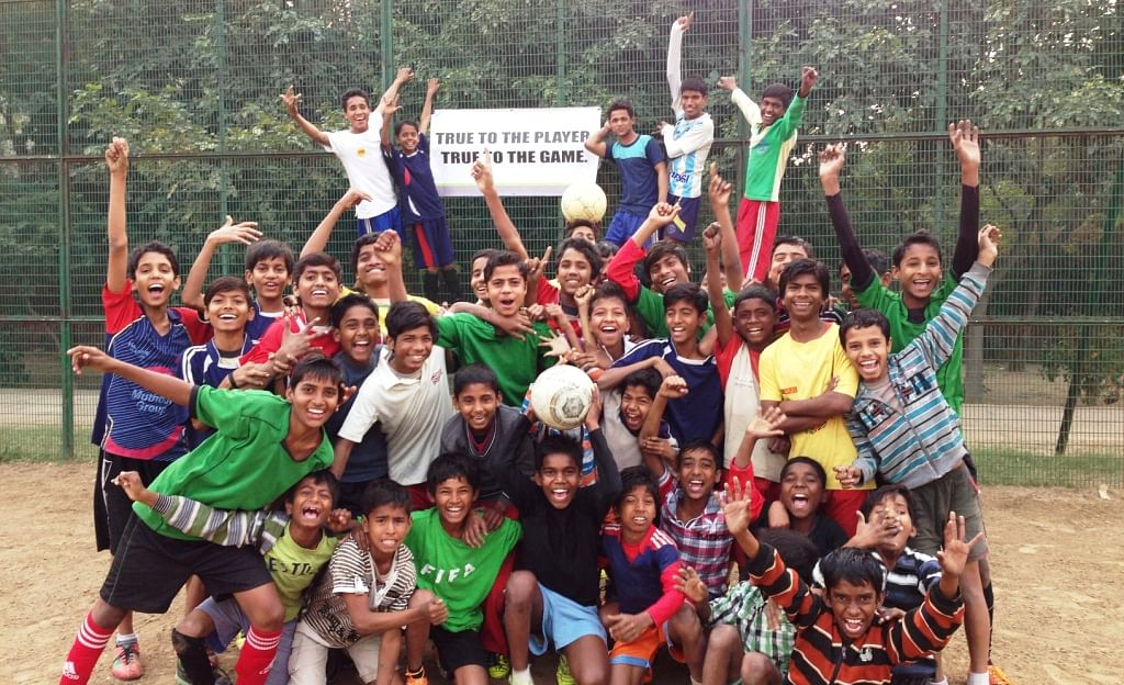The Football Link imparts social and ethical values among children through football.