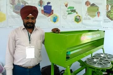Indrajeet Singh with his innovation.