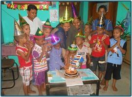 Birthday celebration at SMSS.