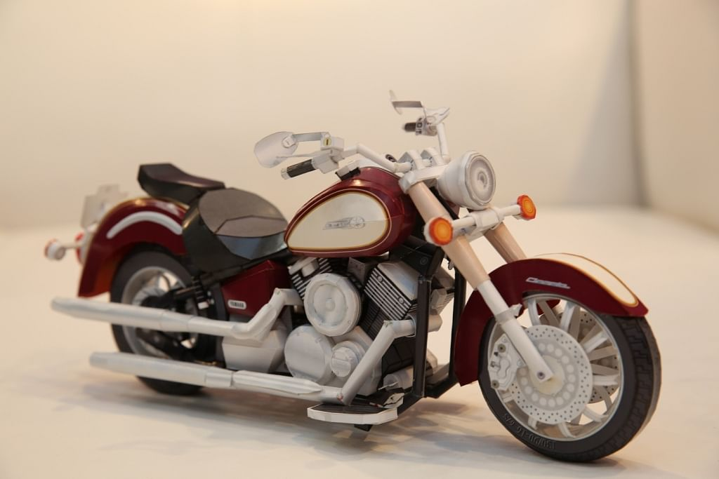 Yamaha Bike. We can't believe its made out of paper, can you?