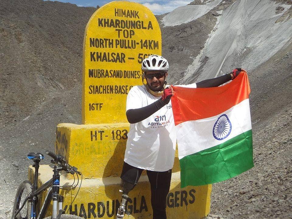 Manali to Khardung La has been Aditya's toughest journey so far.