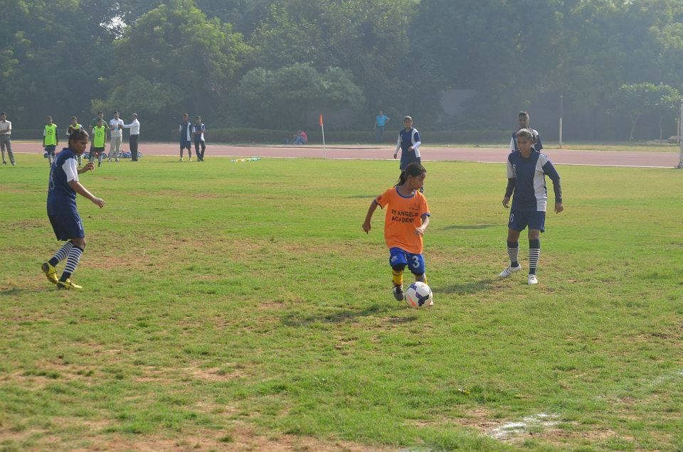 Both girls and boys equally participate in the game.